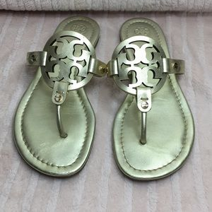 Tory Burch miller sandals gold size 7